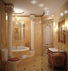15 Luxury Bathroom Decoration Ideas for Enjoying Your Bath — Design & Decorating - Bathroom Ideas Dream Bathrooms, Beautiful Bathrooms, Modern Bathroom, Luxury Bathrooms, Bathroom Ideas, Bathroom Designs, Small Bathroom, Boho Bathroom, Royal Bathroom