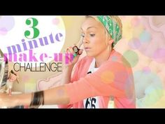 3 MINUTE MAKEUP CHALLENGE...3 minutes and go, looks like this: