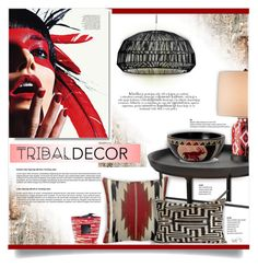 """Tribal Decor"" by kiki-bi ❤ liked on Polyvore featuring interior, interiors, interior design, home, home decor, interior decorating, ESPRIT, Currey & Company, NOVICA and Ay Illuminate"
