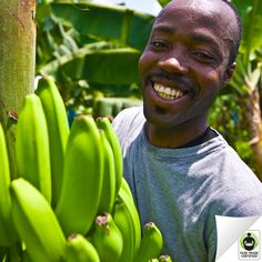 Thanks for bringing a smile to the faces of #banana farmers & workers around the world when you choose #FairTrade!