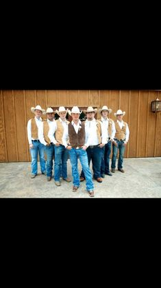 Western groomsmen: Like the style. Very much how I want the men in my wedding to look Cowgirl Wedding, Camo Wedding, Wedding Pictures, Our Wedding, Dream Wedding, Rustic Wedding, Wedding Stuff, Berry Wedding, Tent Wedding