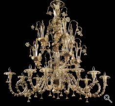 "Calle Rezzonico Oval Gold H 63"" Diam. 63x43"" - 12 Lights  Price Upon Request"
