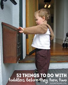 52 things to do with toddlers before they turn two