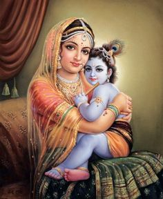 Eternally Beautiful Yashodamaa & Krishna