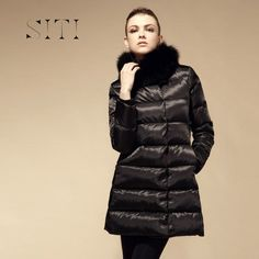 Apparel  Daily Siti Winter Long Section of the Super-thick Self-cultivation Stand-up Collar Down ♥