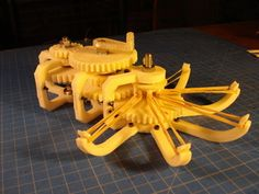 Rubber Band Gear Mechanism by Skimbal - Thingiverse [http://www.thingiverse.com/]