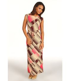 Anne Klein Abstract Print Maxi Dress