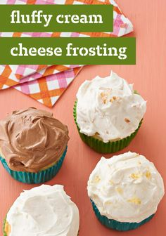 Fluffy Cream Cheese Frosting – Cream cheese frosting that's made without powdered sugar? Yes—and this recipe is divine. Get out the whipped topping and a surprise ingredient to see for yourself. It's great for topping holiday cupcakes!