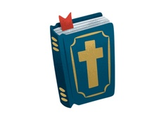Bible Icon for recent kid's magazine by http://joshjlewis.com/