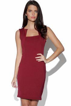 Red dress 3 4 length sleeve logo