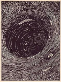 6 dark and scary illustrations of Edgar Allen Poe short stories from 1919.