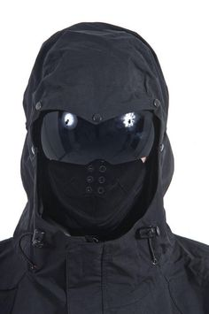 This would be a better headgear alternative than a helmet. They're thieves, not assassins. Though it may seem a tad excessive, identity protection/anonymity is essential. Airsoft Gear, Tactical Gear, Airsoft Mask, Tactical Equipment, Armadura Cosplay, Ninja Gear, Post Apocalyptic Fashion, Tac Gear, Tactical Clothing