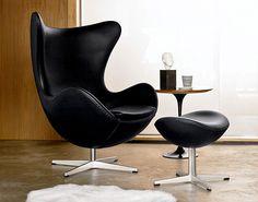 Afbeeldingsresultaat voor egg chair zwart