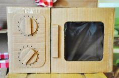 DIY Cardboard Play Kitchen