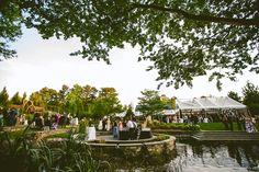 Wedding ceremony and reception at Duke Gardens