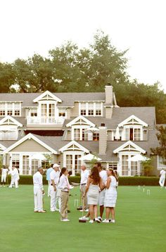 What a perfect way to spend a Sunday afternoon ~playing croquet at your beach house in the Hamptons!...