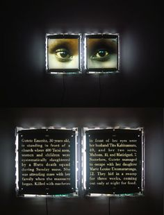 The Eyes of Gutete Emerita, 1996. Photography by Alfredo Jaar. Copyright © 1996 Alfredo Jaar.