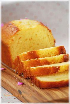 Vanillaorchide : French yogurt cake  Easy and moist ( use yogurt & oil)