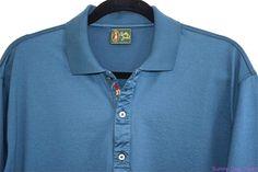 Bobby Jones Golf Polo Shirt Cotton Short Sleeve Italy Mens Solid Blue Green XL #BobbyJones #PoloRugby