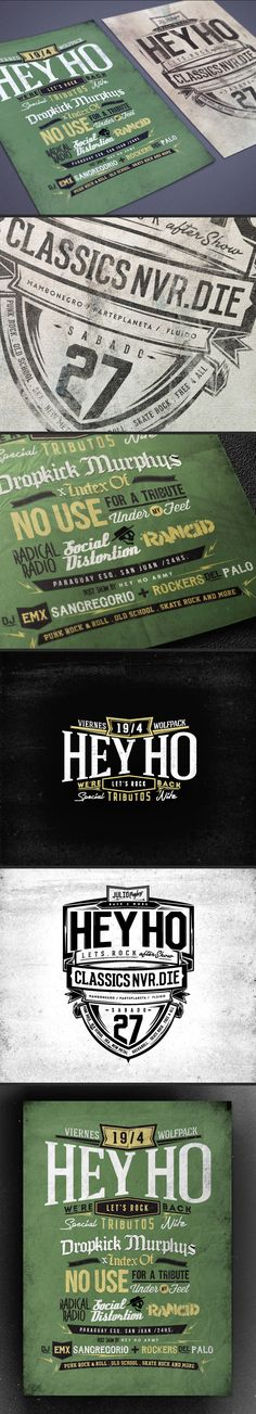 HEY HO Lets Rock flyers vol. 2 by Overloaded design