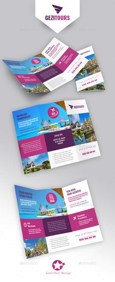 Travel Tours Tri-Fold Brochure Template PSD, InDesign INDD