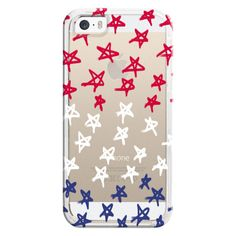 Red, White & Blue Stars - Transparent/Clear Background - iPhone 6s... (515 ARS) ❤ liked on Polyvore featuring accessories, tech accessories, phone cases, phones, cases, iphone case, apple iphone cases, iphone cover case, transparent iphone case and red iphone case