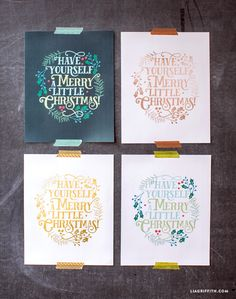 Printable art is a great way to update your home for the Holidays. Our Christmas quote art comes in four different designs for the price of one! By Lia Griffith. Christmas Makes, Christmas Quotes, Christmas Signs, All Things Christmas, Christmas Decorations, Christmas Nativity, Christmas Art, Christmas Holidays, Celebrating Christmas