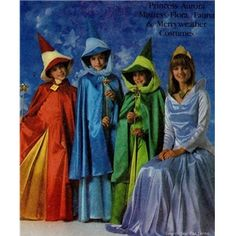 Simplicity 8328 Disney Sleeping Beauty Costume pattern for Flora, Fauna, and Merryweather fairy costumes