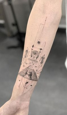50 Brilliant Black And Grey Tattoos - Get an InkGet an Ink Line Art Tattoos, Face Tattoos, Forearm Tattoos, Body Art Tattoos, Sleeve Tattoos, Buddha Tattoos, Portrait Tattoos, Hieroglyphics Tattoo, Tattoo Dotwork