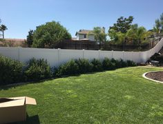White Vinyl no maintanence fence installed in Temecula Ca.