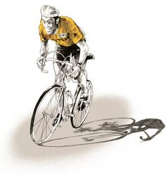 Work of Joost Stockhof #cycling #illustration