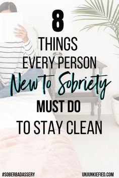 Are you new to sobriety and ready to fix your life? It doesn't happen instantly but to get you started, I compiled a list of 8 things you must do to stay clean in early recovery. It's time to have a kick-ass sober life. Quit Drinking Alcohol, Quitting Alcohol, Sober Quotes, Quotes Quotes, Getting Sober, Overcoming Addiction, Sober Living, Sober Life, Alcohol