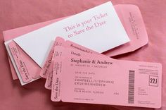 Boarding Pass Style Invitations