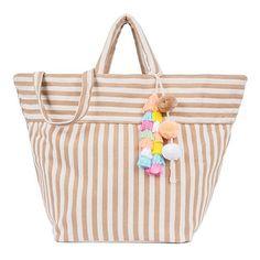 Valerie Beach Bag Pastel Tassel Sand – JADEtribe