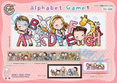 Alphabet Game 1 A to H with animal and girls by GeniesCrossstitch