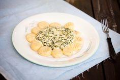 Gnocchi w sosie szpinakowo-śmietanowym