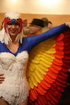 The Sorceress from Masters of the Universe. Love this costume idea however I'm sickly afraid of feathers