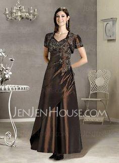 Bridesmaid Dresses - $99.99 - Graceful A-Line/Princess V-neck Floor-Length Taffeta Bridesmaid Dress with Ruffle  Lace (007002107) http://jenjenhouse.com/pinterest-g2107