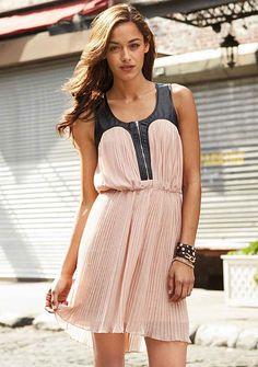 Nicki Pleated Dress at Alloy