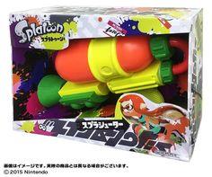 New Splatoon Splashooter S Water Gun Orange Boy Big Size 47cm F/S