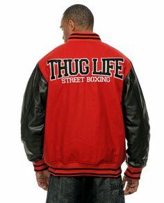"Thug Life College Jacke ""Street Boxing"" Rot"