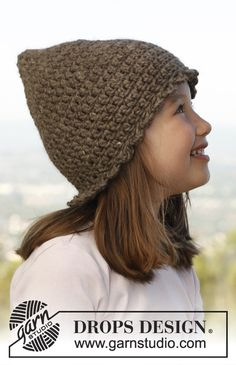 "Crochet DROPS hat in ""Nepal"". ~ DROPS Design"
