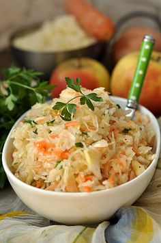 Appetizer Salads, Appetizers, Side Dish Recipes, Side Dishes, Polish Recipes, Polish Food, Flat Belly, Potato Salad, Cabbage