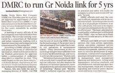 #DMRC to run #GreaterNoida link for 5 years !!  www.crsgroupindia.com  #CRSGroup #DelhiMetro #NCRProperty