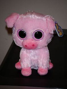 Corky the pig- retired Ty Boos, Ty Beanie Boos, Big Eyed Stuffed Animals, Ty Peluche, Ty Animals, Rare Beanie Babies, Ty Babies, Cute Beanies, Toys For Girls