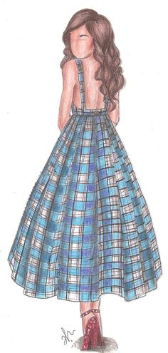The Wizard of Oz Fashion | Dorothy by VianaDrawings on DeviantArt