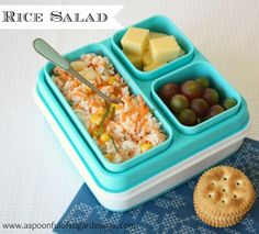 Lunch Box Ideas - Rice Salad in our Expandable Bento Box