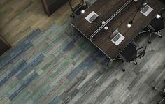 plank carpet tiles - Reclaim by Interface