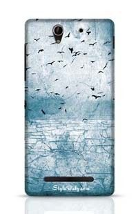 Ground Cracked Birds In The Sky Sony Xperia C3 New Phone Case