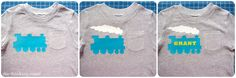 Toddler Train T-Shirt: Tips for Layering with HTV | The Thinking Closet